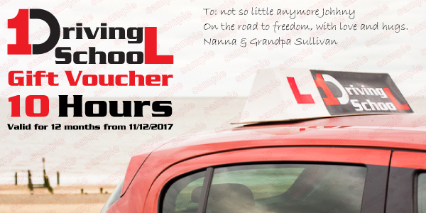 1 Driving School - Gift Voucher